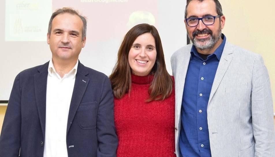 Lia Corral y Alfonso Gutiérrez-Zotes, y Javier Labad