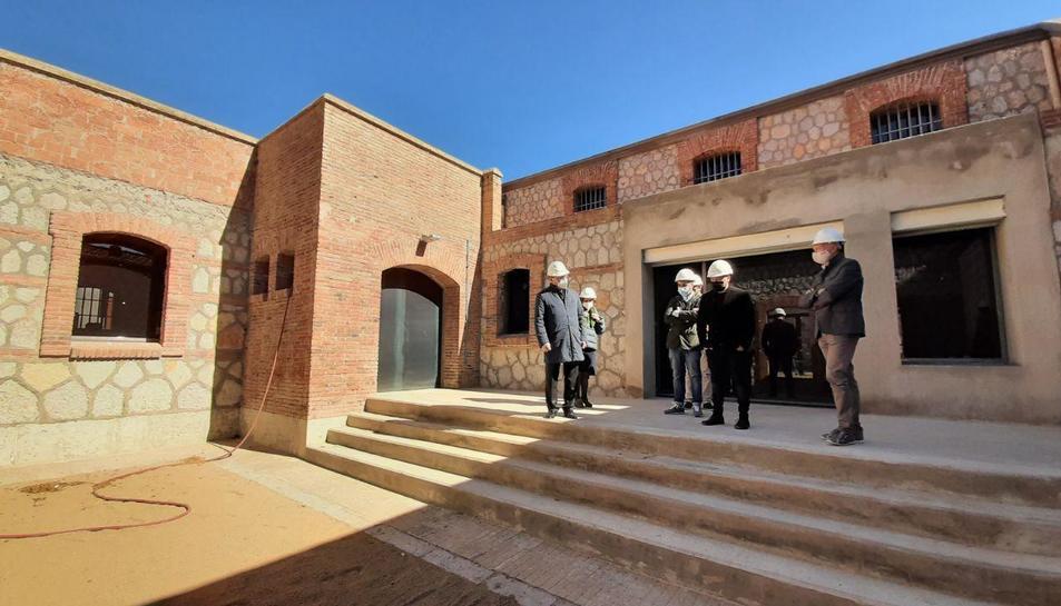 Imatge de la visita a les obres.