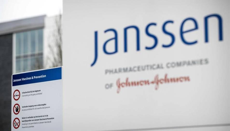 Exterior de la seu de la farmacèutica Janssen in Leiden, Paises Baixos.