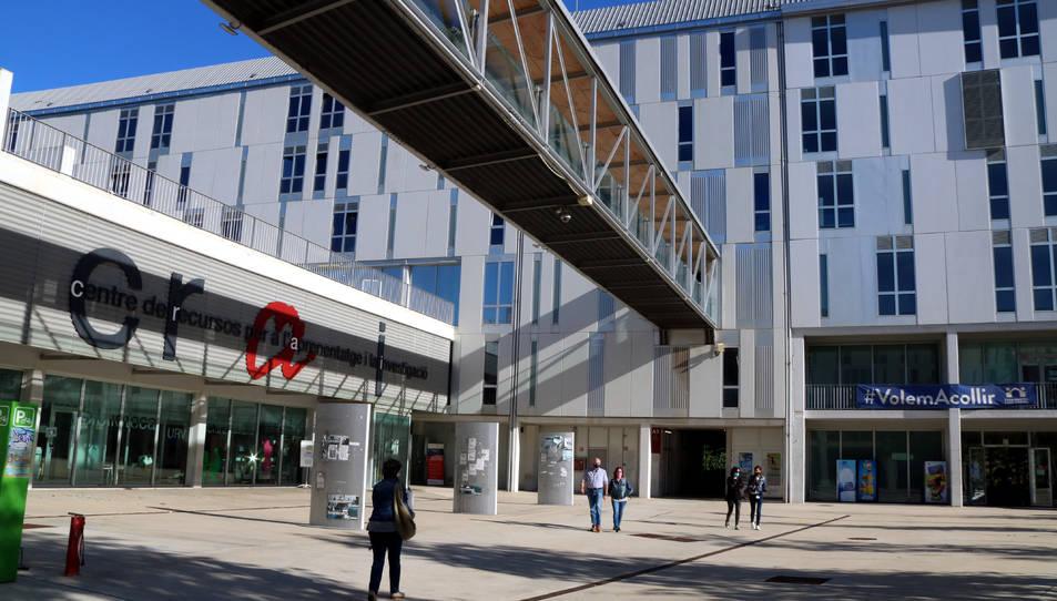 El Campus Catalunya de la URV durant el primer dia del curs 2020-2021.