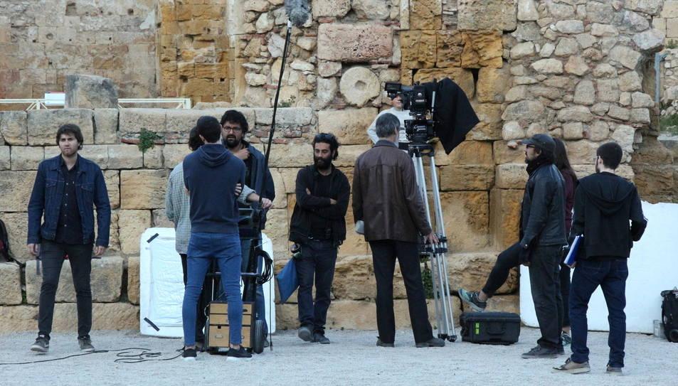 Imatges del 'making off' de la pel·lícula.