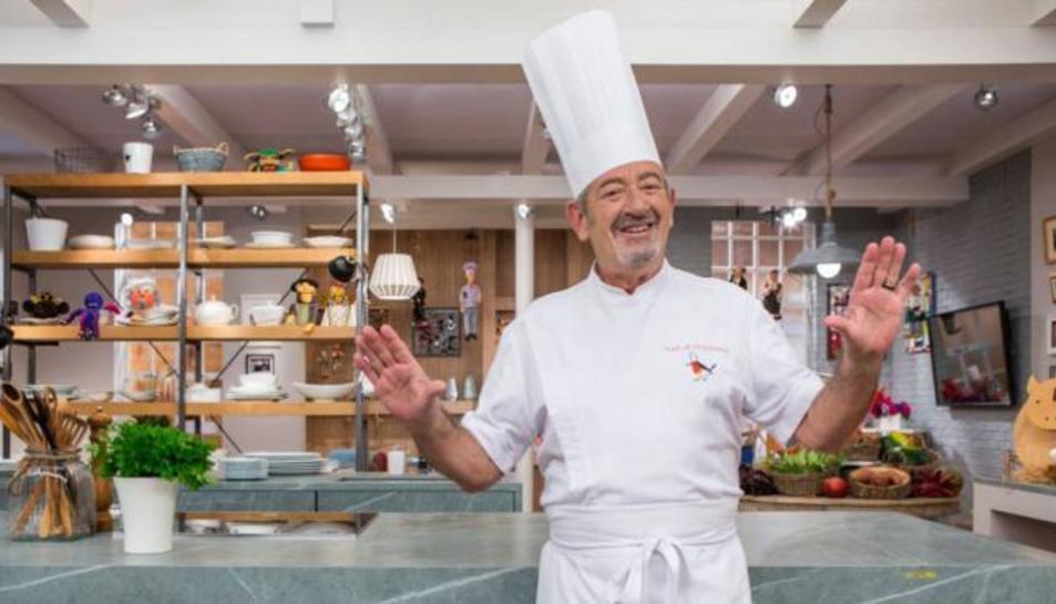 Karlos Arguiñano en su programa 'Cocina abierta'.