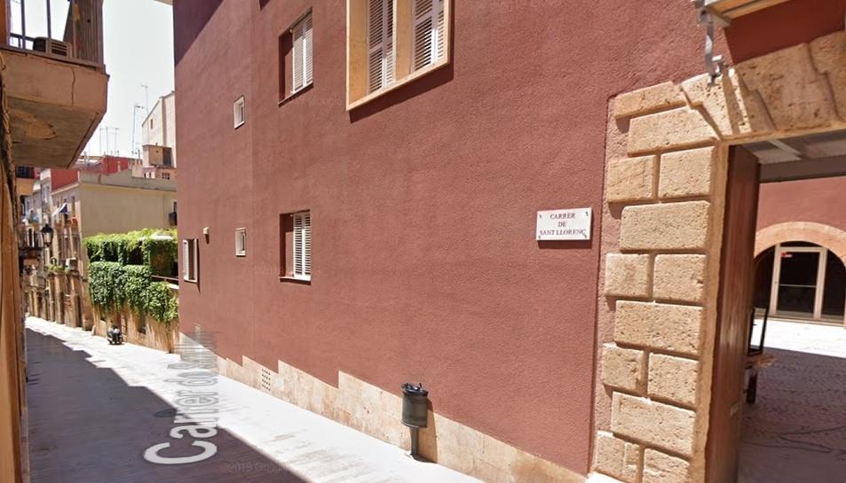 Imatge del carrer Sant Llorenç de Tarragona.