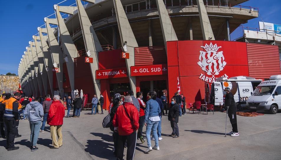 L'afició durant el Nàstic-Espanyol B (3)