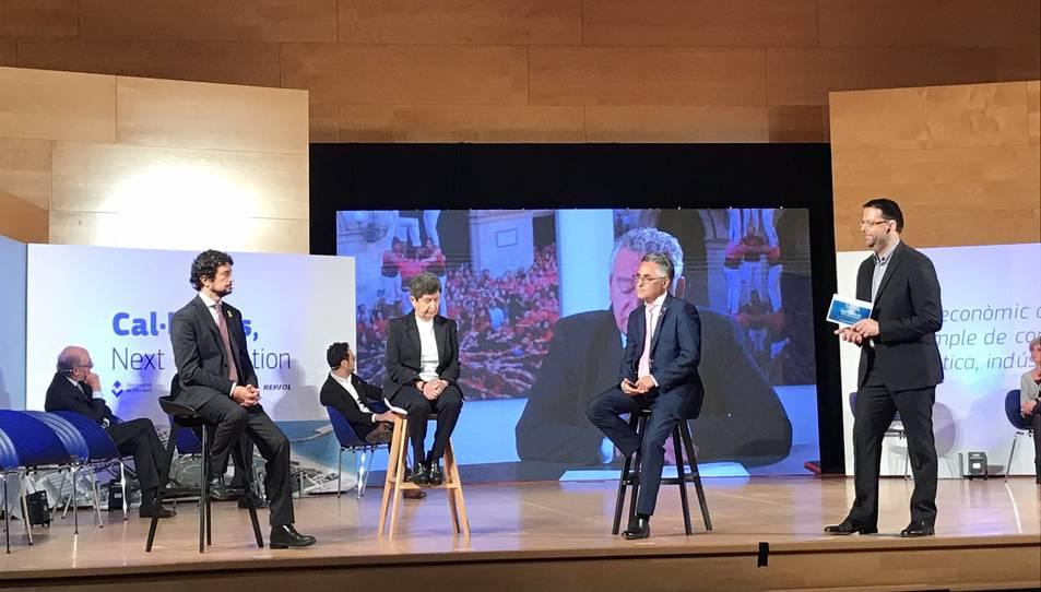 Els consellers de Territori i d'Empresa, i la delegada del Govern donen suport al projecte 'Cal·lípolis Next Generation' a l'Auditori Josep Carreras de Vila-seca.