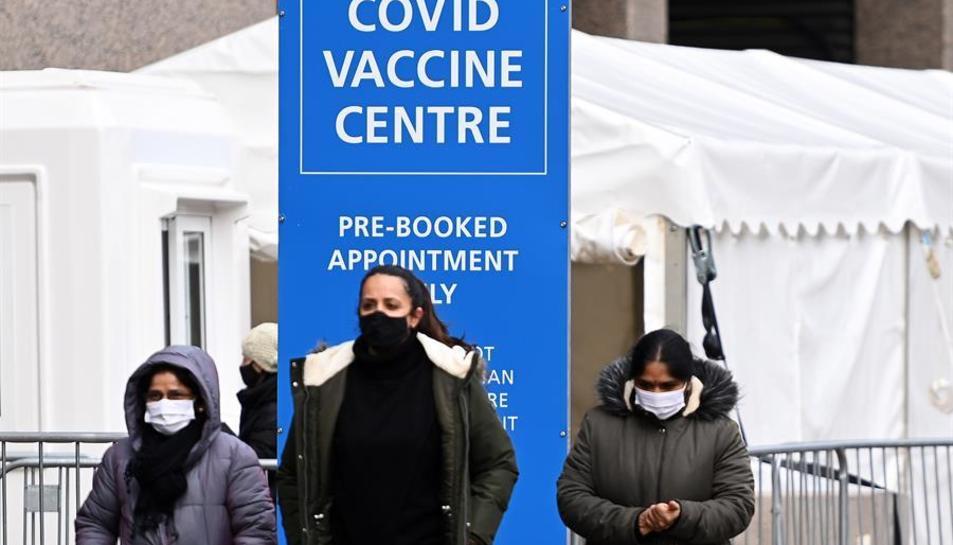 Centre de vacunació al Regne Unit