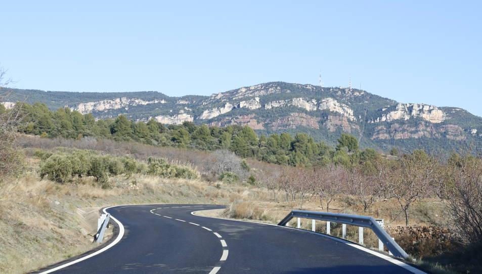Panoràmica de les muntanyes de Prades.