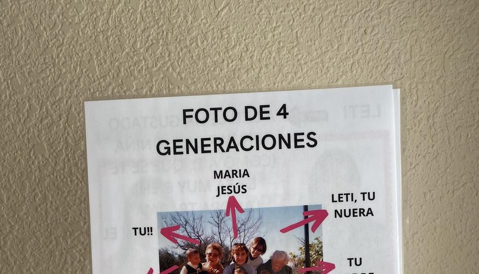 Una de les fitxes que la Lara, la Leti i la Irene han regalat a la seva àvia Irene.