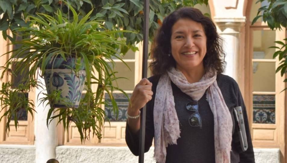Imatge de la professora compartida per l'institut CAnigó d'Almacelles.