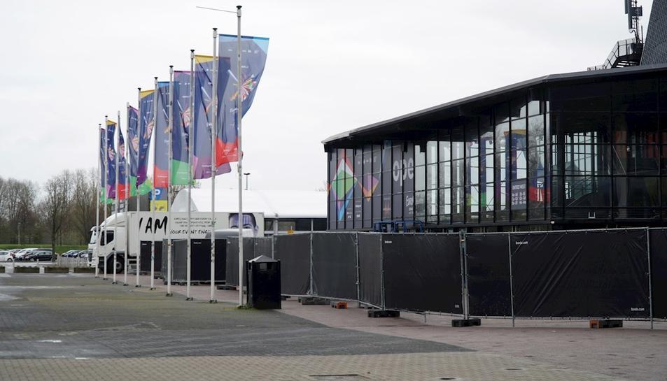 El centre Ahoy de Rotterdam on se celebrarà l'Eurovisió d'aquest any.