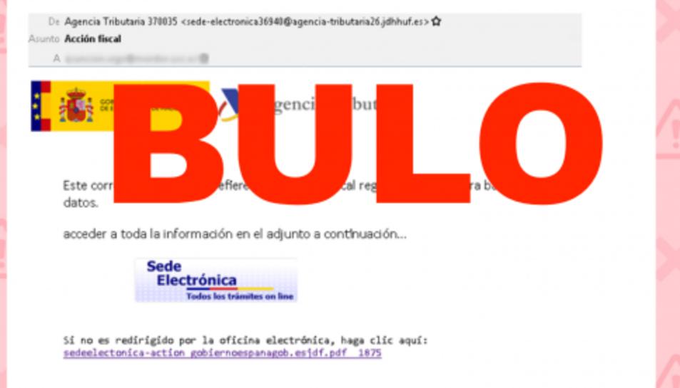 Un exemple de 'phishing'.