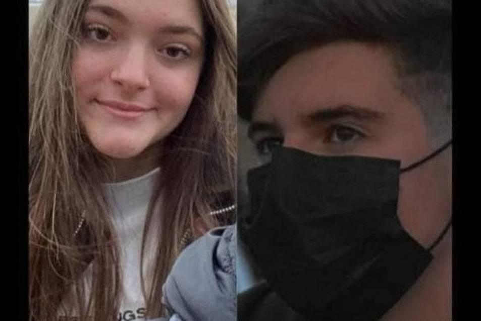 Els dos joves, en una imatge difosa a les xarxes socials.