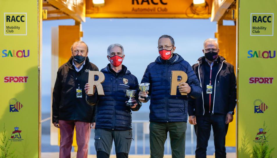 Carles Miró i Ivan Matavacas (Porsche) guanyadors del Rally Catalunya Històric.