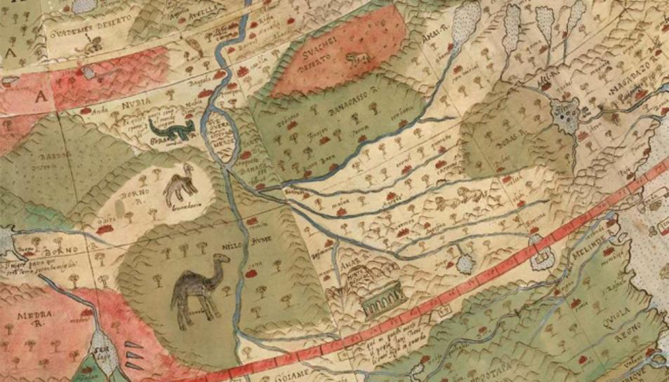 Detall del mapamundi d'Urbano Monte.