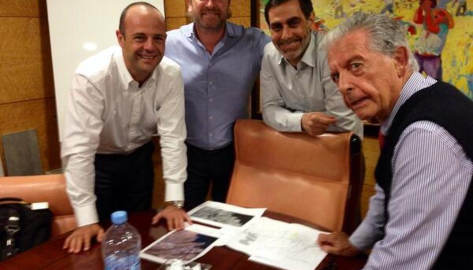 Óscar Palacios, Arjan Kers, Roberto Cabrera i José Cabrera (dreta) en una imatge d'arxiu.