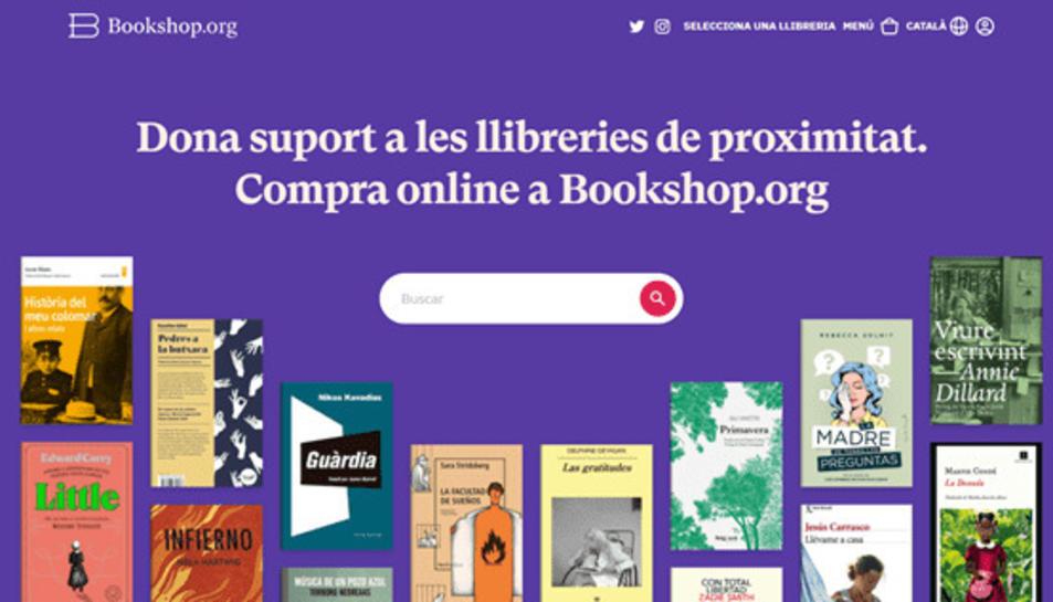 Imatge de la plataforma de venda de llibres Bookshop.org en català.