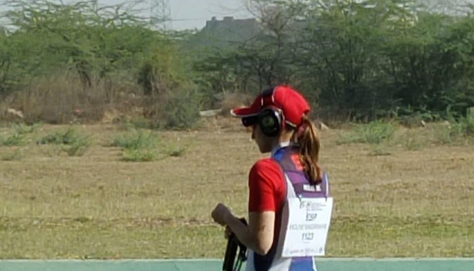 Molné va poder participar amb una escopeta d'un amic.