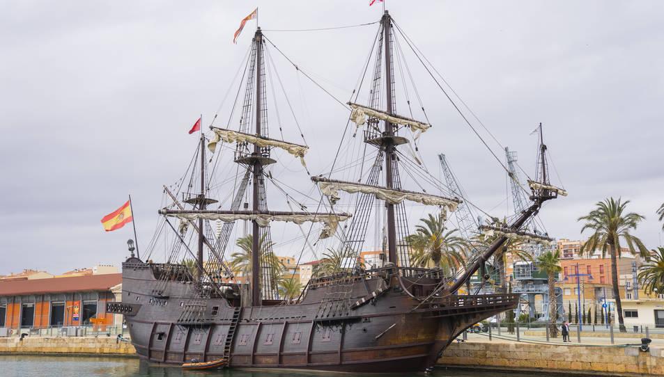 El galió ha arribar procedent de València.