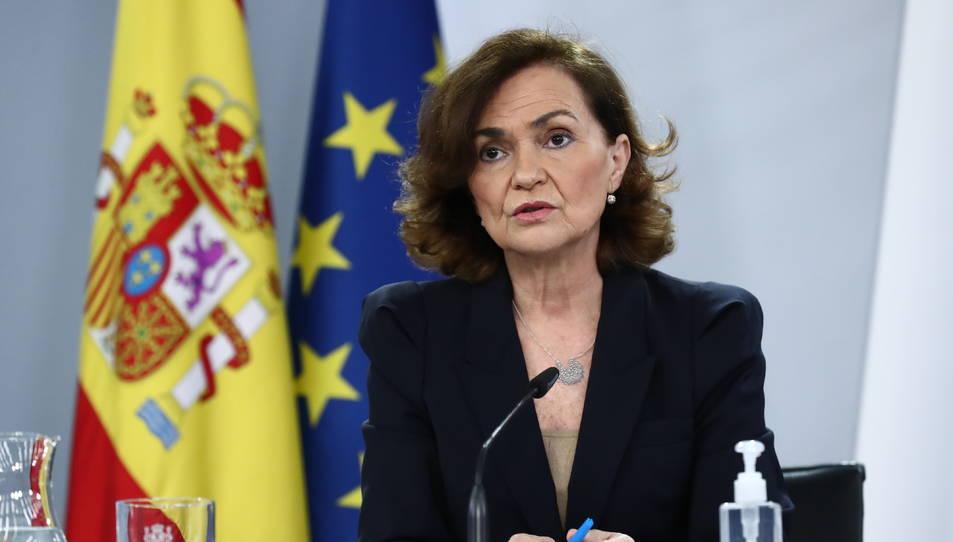 La vicepresidenta primera del govern espanyol, Carmen Calvo, en una imatge d'arxiu.