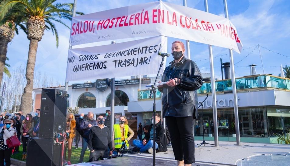 Manifestació de l'oci nocturn a Salou