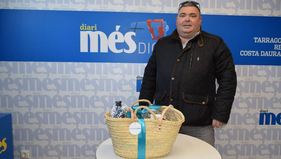 Pere Manel Exposito, guanyador de la cistella Caprabo del Diari Més de la primera quinzena d'abril.