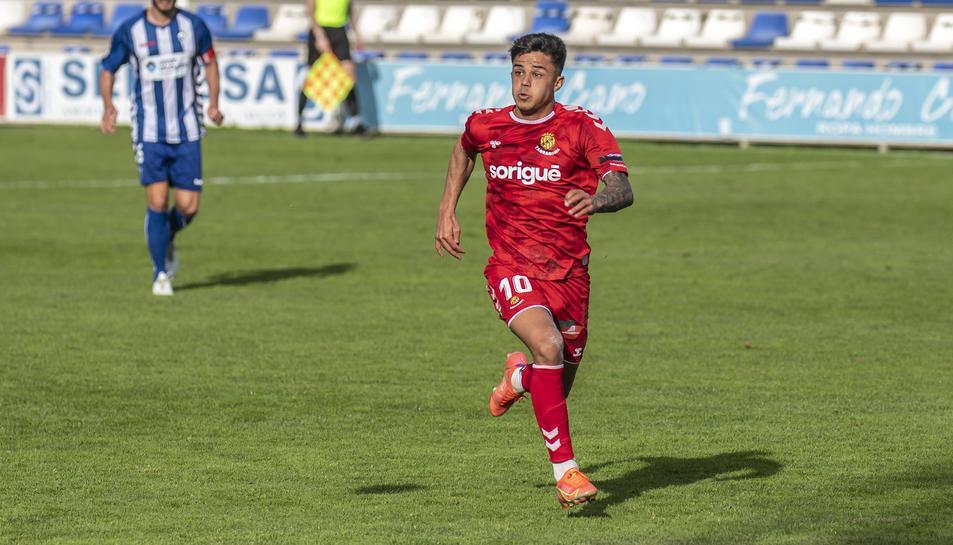 Brugui durant el partit davant l'Alcoyano.
