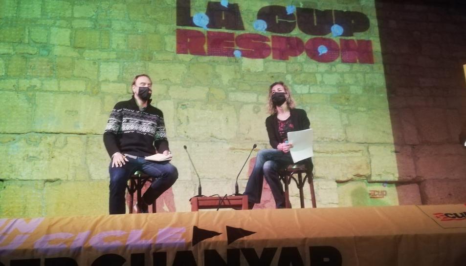 Laia Estrada es va sotmetre a les preguntes dels tarragonins a l'Antiga Audiència.