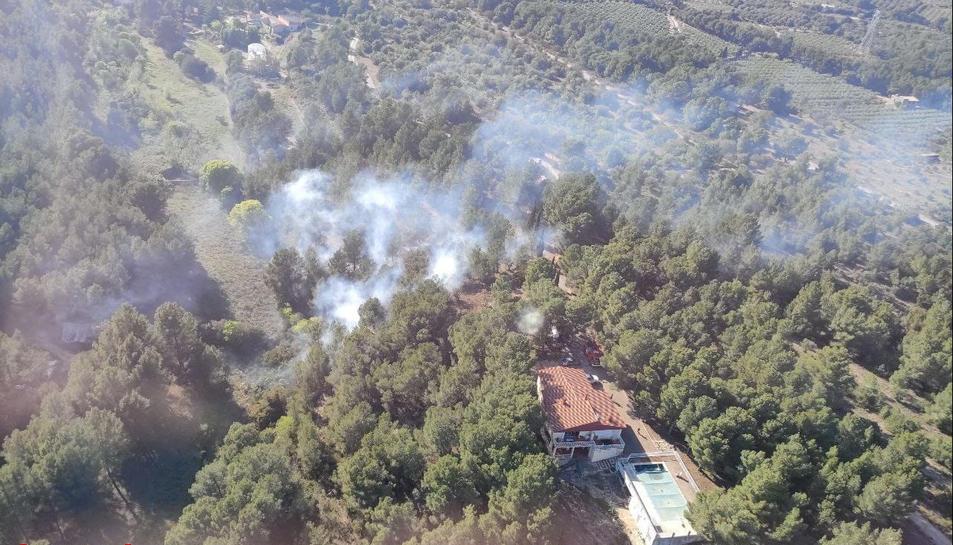 Incendi detectat a Mont-Roig del Camp.
