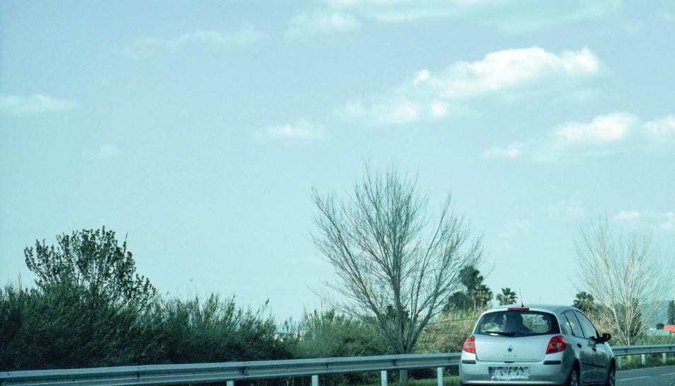 El cotxe infractor enxampat a 170 km/h a la TV-3408 a Amposta.