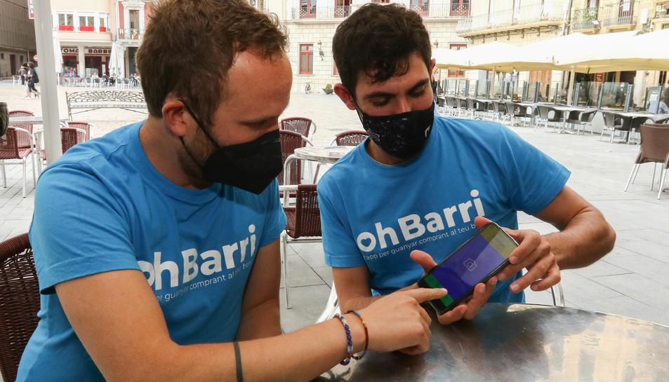 Sergi Compte i David López, els responsables de la iniciativa.