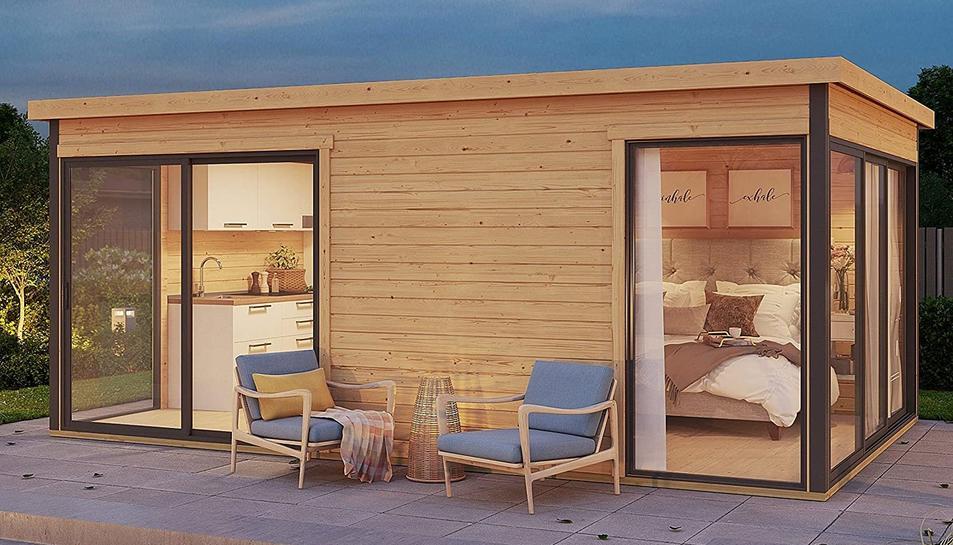 Imagen de la casa prefabricada, modelo Palma 3, de la empresa Allwood.