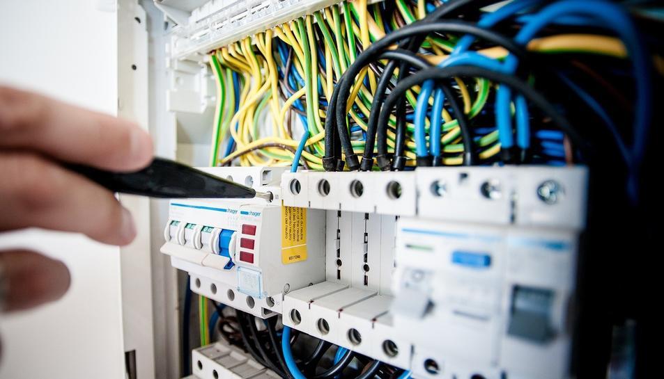 Imatge d'arxiu d'un quadre elèctric.