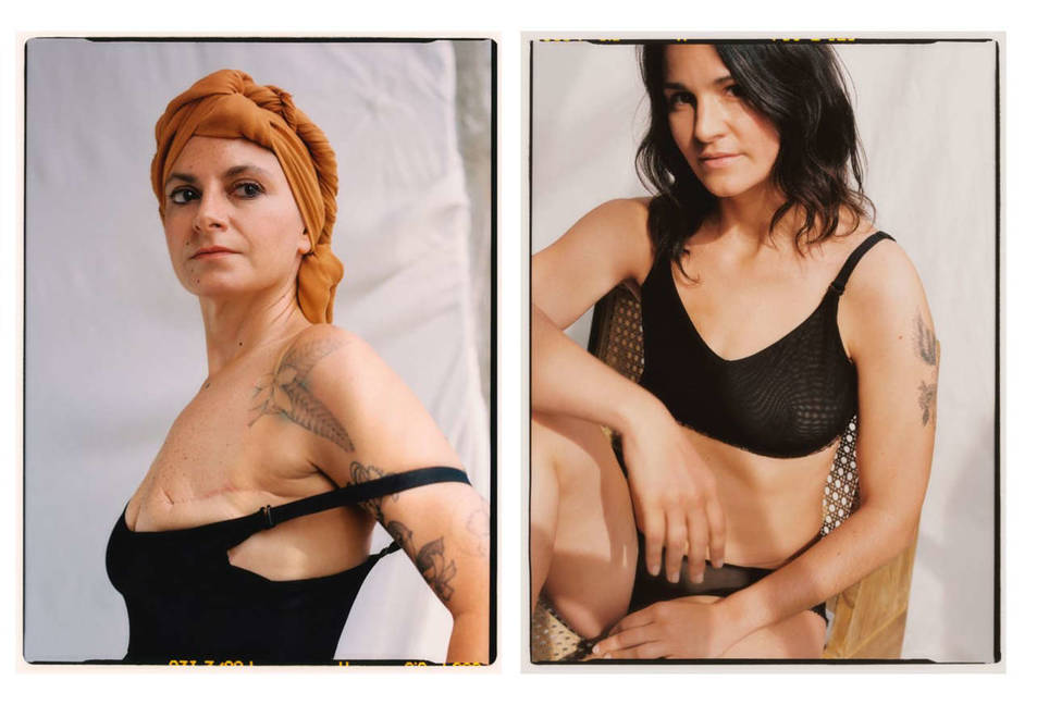Imatge d'alguns dels models de la col·lecció de Mango per a dones amb un sol pit.