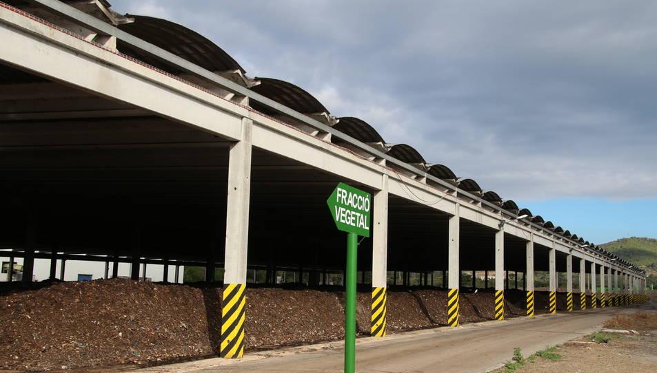 Imatge de la planta de compostatge de Botarell.