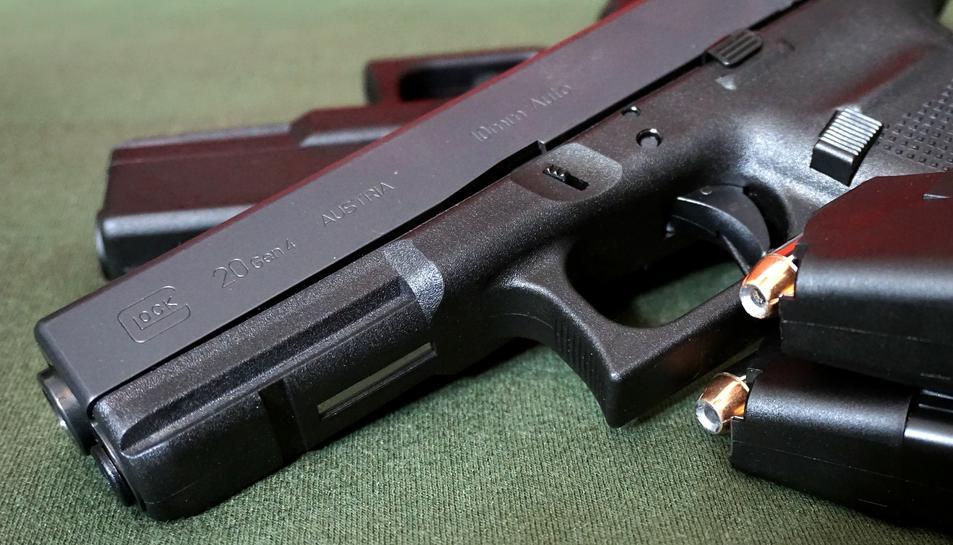 Imatge d'arxiu d'una pistola Glock.