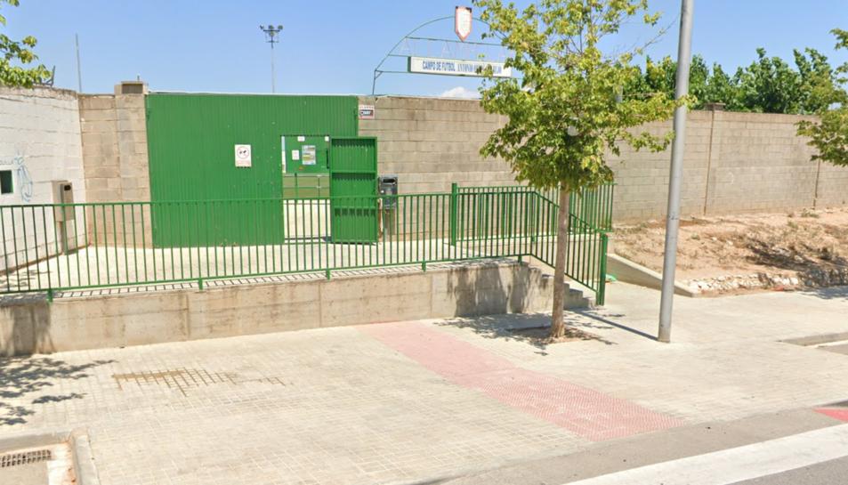 L'entrada de l'Estadi Ortega Parejo de Campclar.
