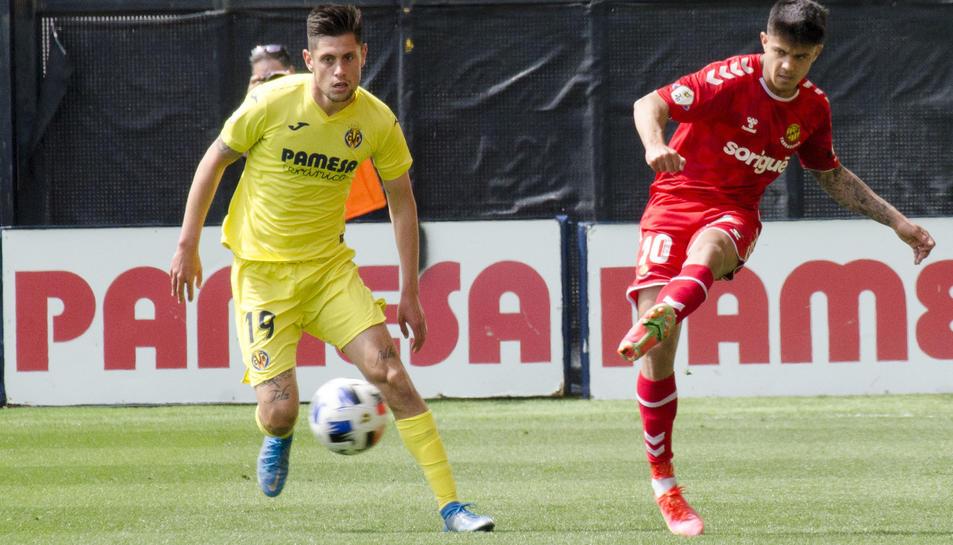 Brugui, durant el Villarreal B-Nàstic.