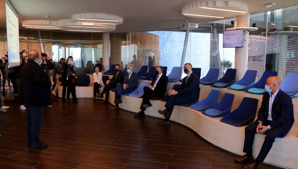 Presentació de diversos projectes a la seu d'Ematsa que aspiren a finançament dels fons Next Generation EU.