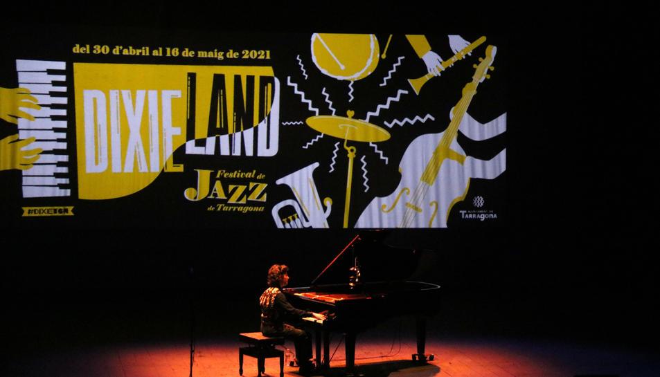 El pianista Marco Mezquida al festival Dixieland a Tarragona.