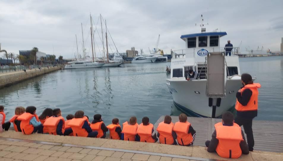 Un grup de nens durant una de les activitats.