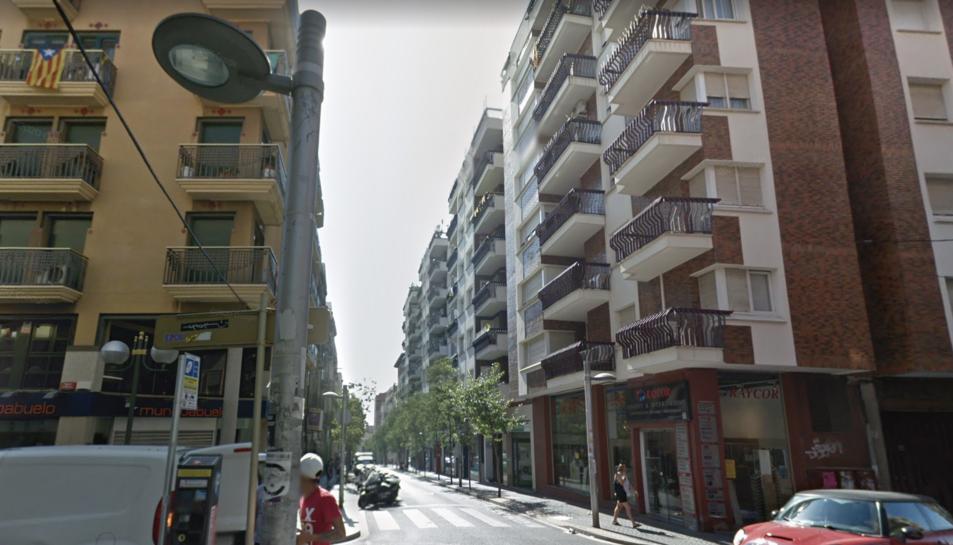 Imatge d'arxiu del carrer Gasòmetre.