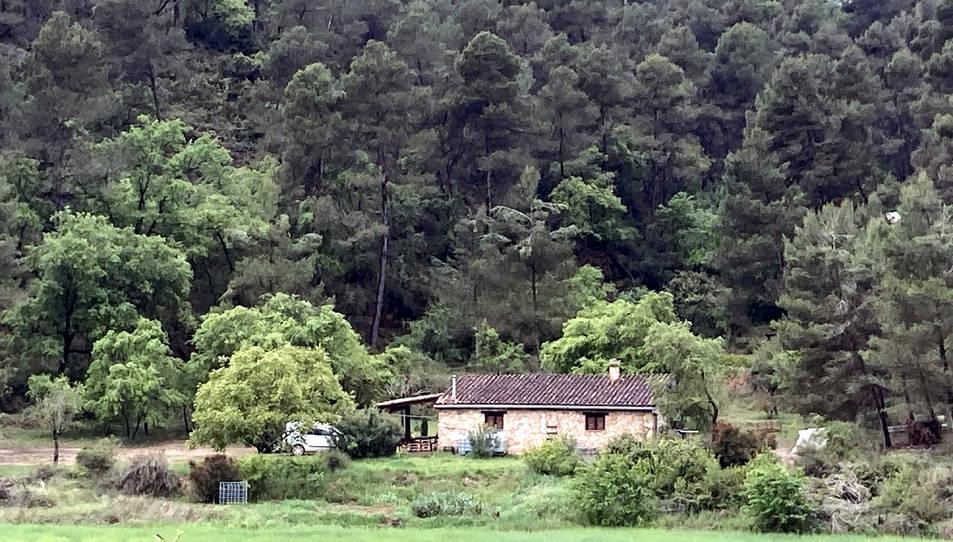 Masia de l'Espluga de Francolí on han mort intoxicats dos joves.