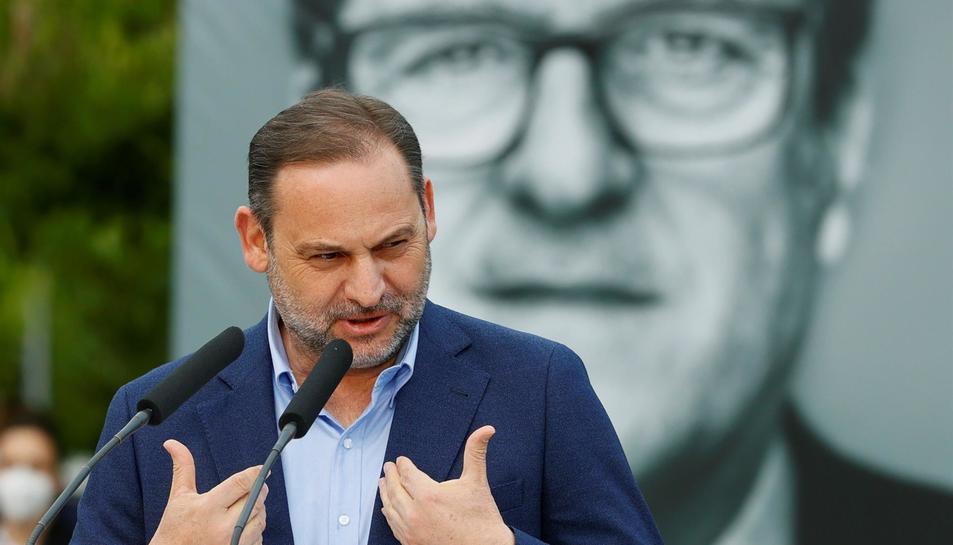 Imatge d'arxiu d'Ábalos en una acte electoral del PSOE.
