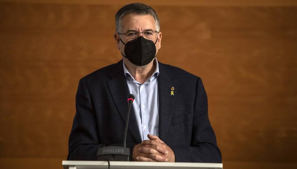 L'alcalde Pau Ricomà durant la presentació.