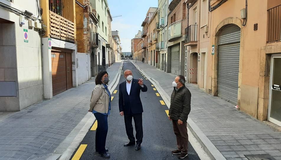 L'alcalde de Reus, Carles Pellicer; la regidora d'Urbanisme,