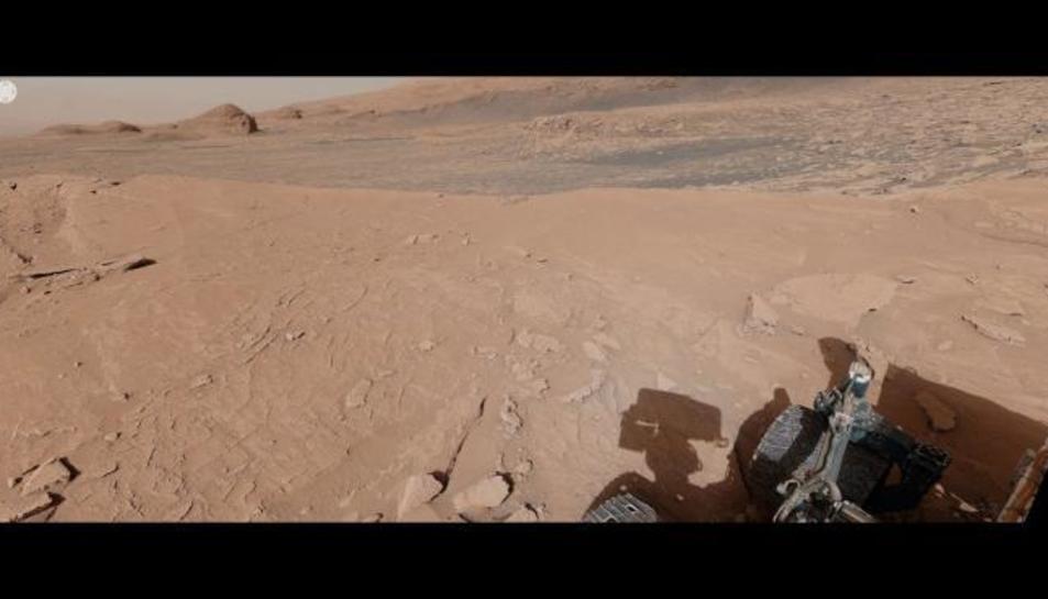 La imatge captada pel rover Curiosity a Mart.