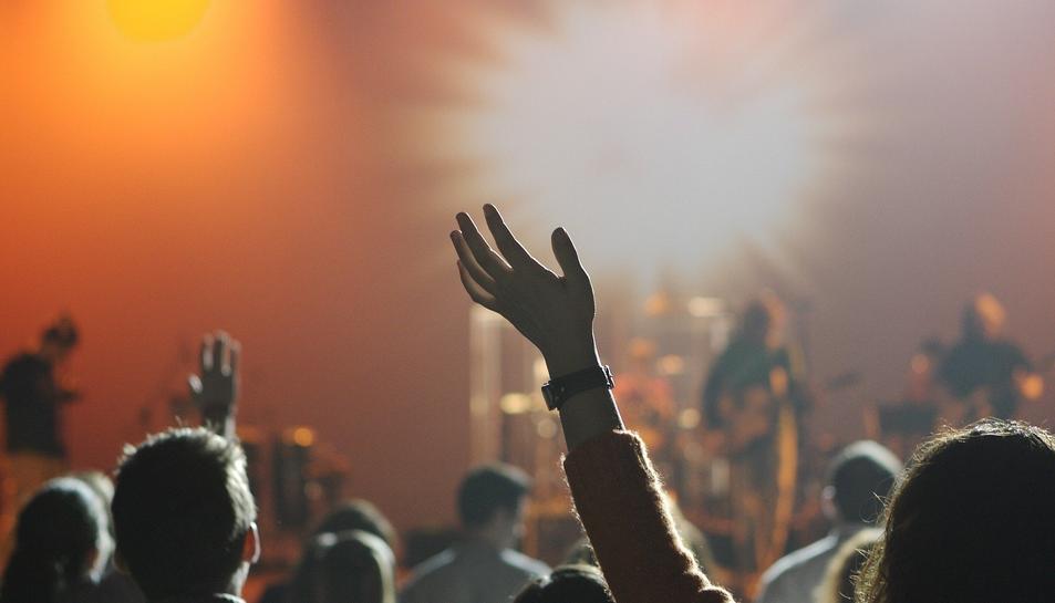 Imatge d'arxiu dins una sala de concerts.