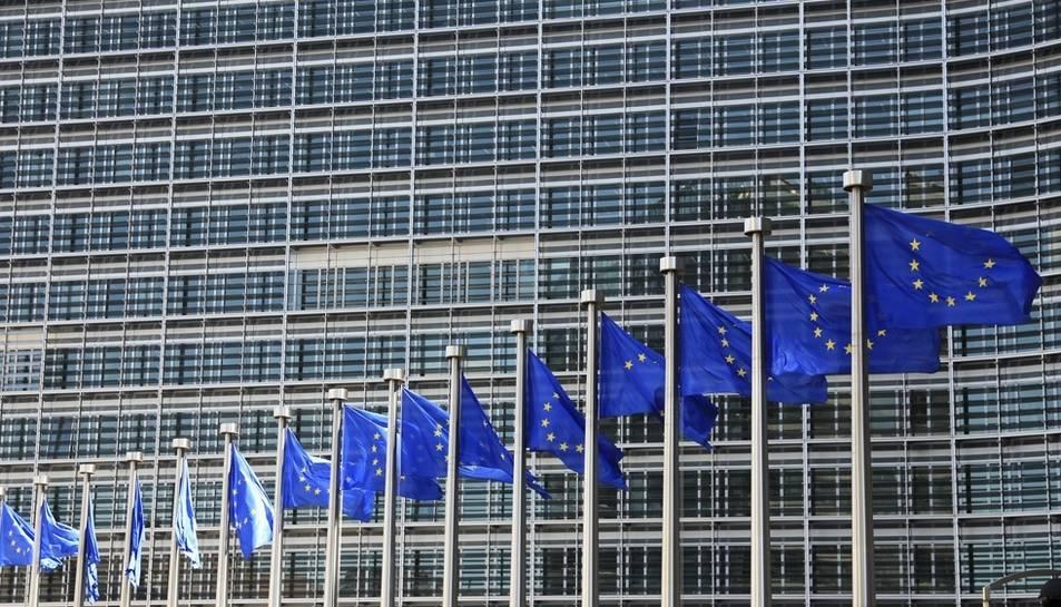 Imatge d'arxiu de la façana de la Comissió Europea.