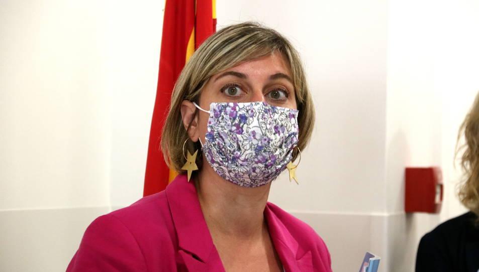 Primer pla de la consellera de Salut, Alba Vergés.