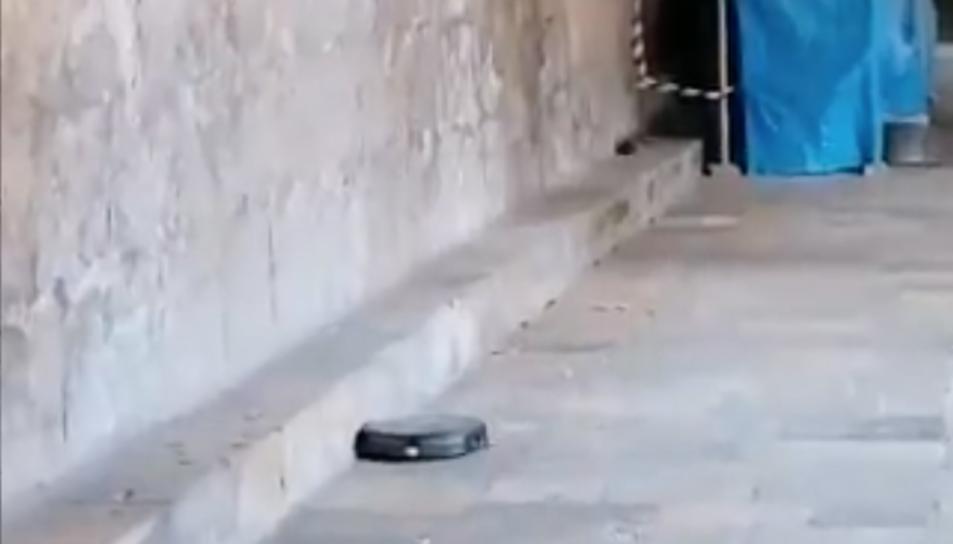 Captura de pantalla d'un instant de vídeo compartit a les xarxes.